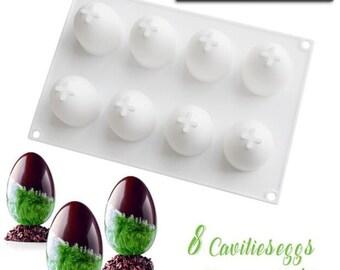 Easter Eggs Silicone Mold AJ #12