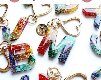 DIY Resin Jewelry Casting Silicone Molds Keychain Forward Reverse Letter Resin Mold