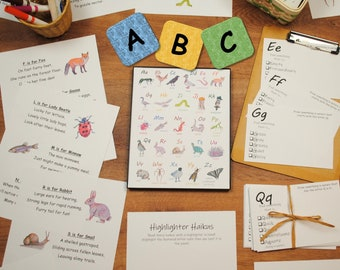 ABCs in Nature Unit Pack: nature-themed preschool alphabet activities and flashcards