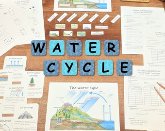 Water Cycle Unit: earth science unit study - with at-home science lab activities!