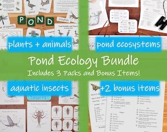 Pond Ecology Bundle: indoor and outdoor science activities for kids!