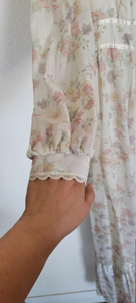 Vintage Gunne Sax floral Prairie Dress - image 7