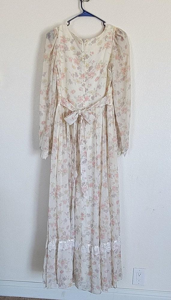 Vintage Gunne Sax floral Prairie Dress - image 2