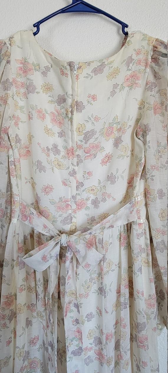Vintage Gunne Sax floral Prairie Dress - image 3