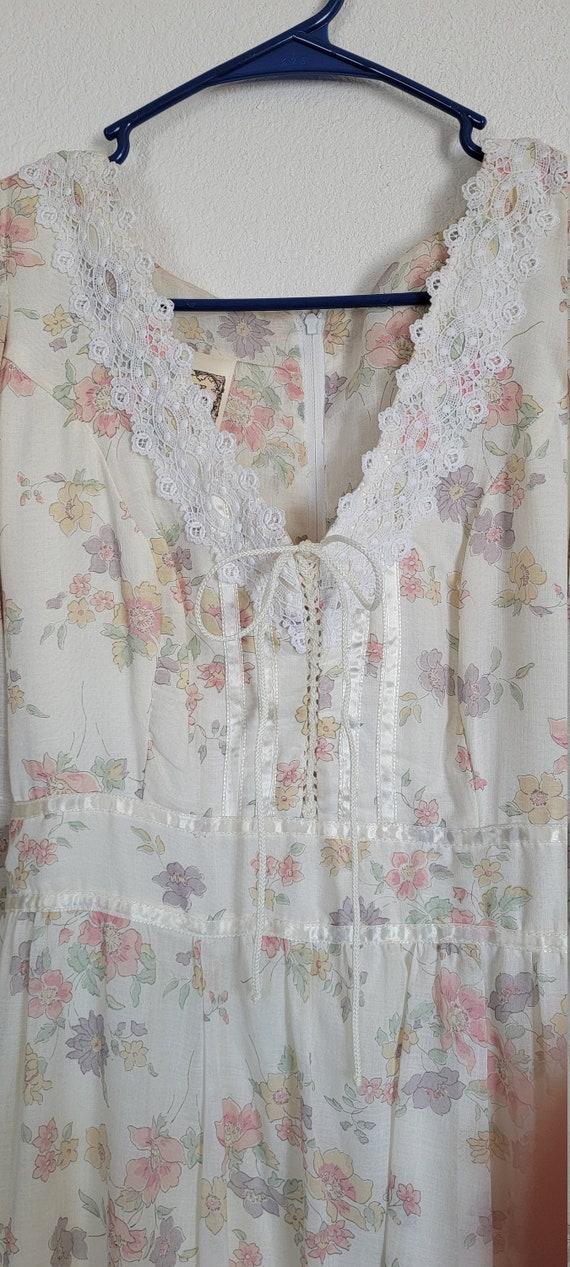 Vintage Gunne Sax floral Prairie Dress - image 5