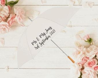Personalised wedding umberella