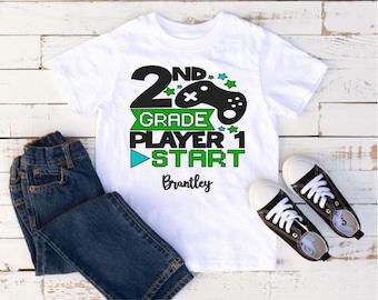 Ready Player 1 Second Grade Shirt, 2nd Grade Shirt Boy, Back to school shirt, Second Grade shirt, First day of school, Gaming Shirt kids