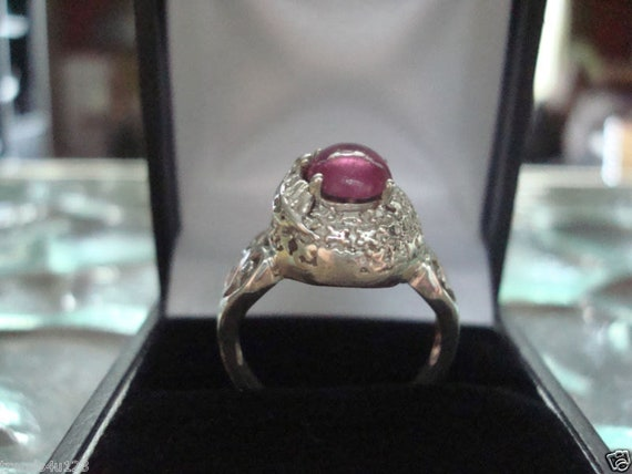 Estate Antique Retro Jewelry Ladys Beautiful Silv… - image 4