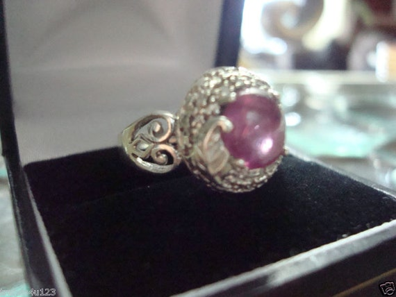 Estate Antique Retro Jewelry Ladys Beautiful Silv… - image 3