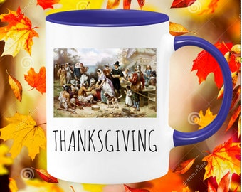 Fall coffee mug, Thanksgiving mug, autumn holiday mug, fall decor,sweater weather,fall women gift,thanksgiving decor,seasonal fall gift idea