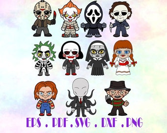 Bundle movie svg, File Characters,Halloween svg, Halloween clipart Cut files for cricut, Silhouette Cameo, SVG, PNG, DXF