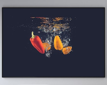 Vegetables in Water Canvas Poster