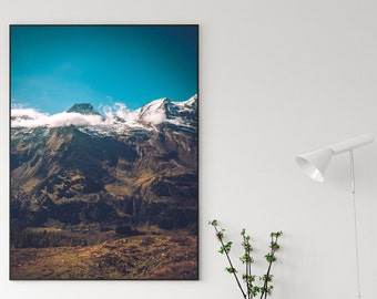 Austrian Glacier Grossglockner Canvas Poster