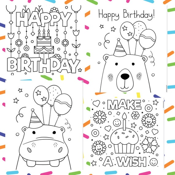 Happy Birthday 40 printable  Coloring Pages-Fun activity for