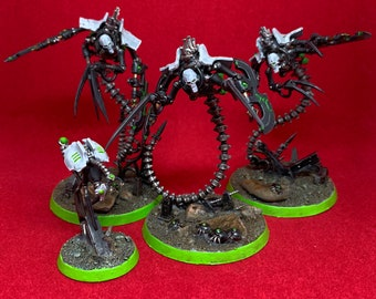 Necrons, Ophydian destroyers, Games Workshop, custom paint
