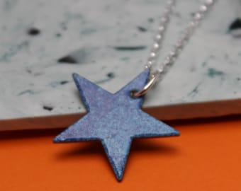 Multi Blue Star Pendant
