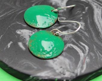 Domed Drop Earrings