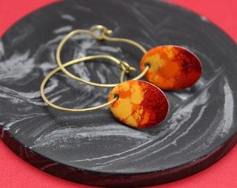 Fire Hoop Earrings