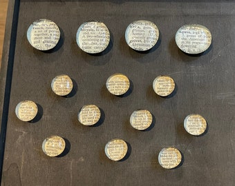 Book Page Dictionary Word Definition and Bible Text Magnets