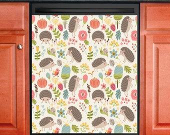 Kitchen Decor Dishwasher Magnet Cover Hedgehog Pattern