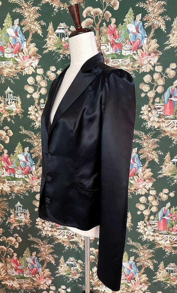 1990s Vintage Betsey Johnson Satin Blazer