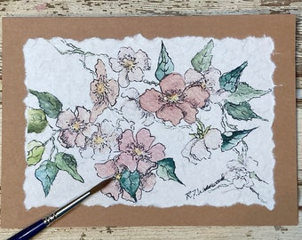 Pink Wild Roses Card