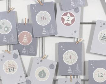 Scratch Advent Calendar, DIY Craft Set with 97 pieces