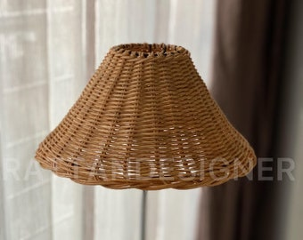 Classic Rattan Lampshade, Rattanshade, Table Lampshade, Wicker Lampshade