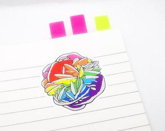 Queernites - Pride Flag Desert Rose Mineral Stickers