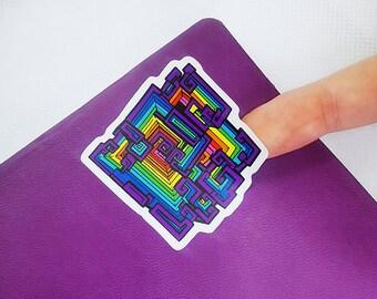 Queersmuth - Pride Flag Bismuth Mineral Stickers