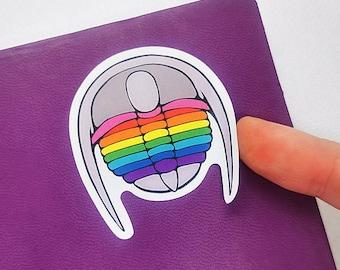 Queerlobites - Pride Flag Trilobite Stickers