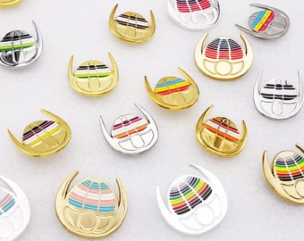 Queerlobites - Pride Flag Trilobite Enamel Pins