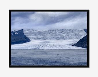 Iceland Glacier Landscape beach Photography Prints Nature Wall art Home decor Blue