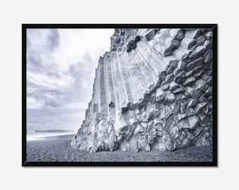 Iceland Sea Landscape Black sand beach Photography Prints Nature Wall Art Home Decor