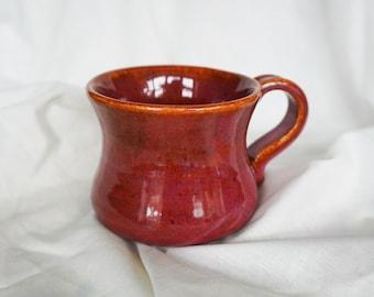 Handmade autumn plum cappuccino/coffee mug