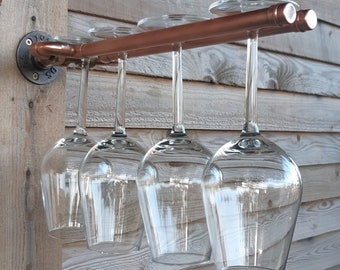 Handmade Copper Glasses Holder