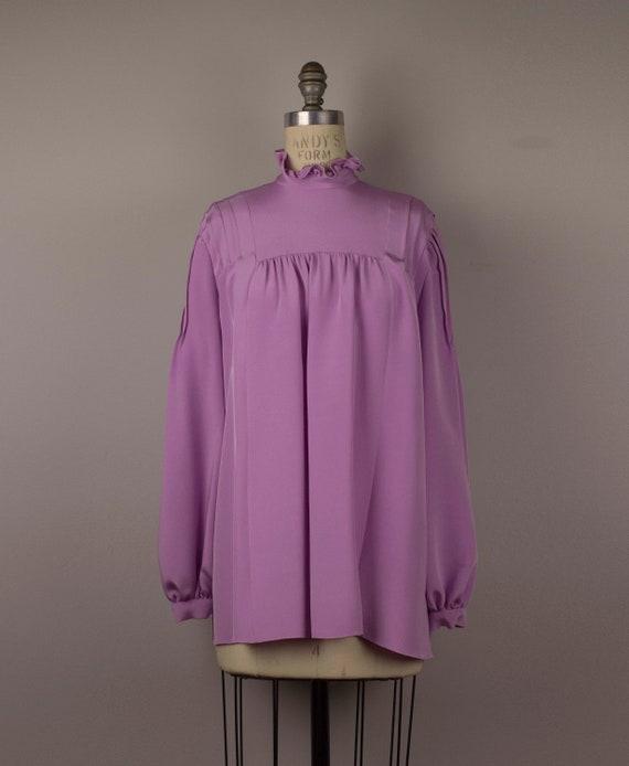Custom Lilac Peasant Blouse - image 1