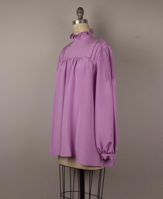 Custom Lilac Peasant Blouse - image 2
