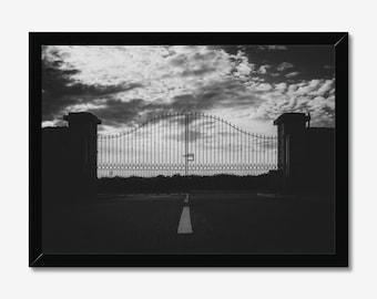 Gated | High Quality Black & White Print - A3, A4