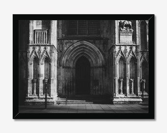 York Minster | High Quality Black & White Print - A3, A4