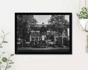 Fountain   High Quality Black & White Print - A3, A4
