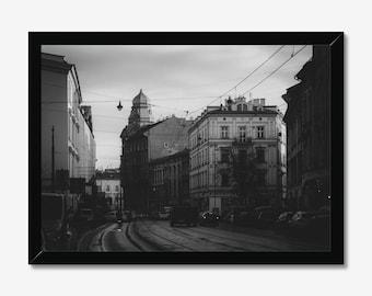 Krakow | High Quality Black & White Print - A3, A4