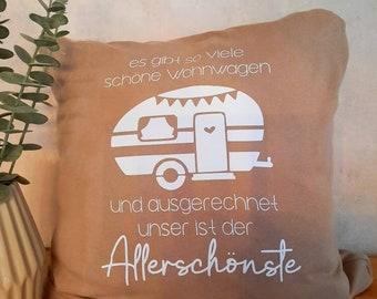 Pillowcase for pillows 40 x 40 cm caravan, camping, glamping