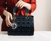 Women Embroidered Black Hand And Shoulder Bag, Accessory Mahjong Pouch Vintage Hermes Belt Clutch Wallet Pochette