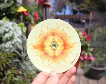 Sticker - Sun Consciousness Awakening - woke - psychedelic eye sticker
