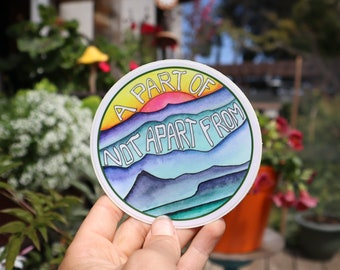 STICKER - One With Nature! - Connected to the Land - Land as Medicine - Landscape - Desert Sunset - High Desert - Mountains