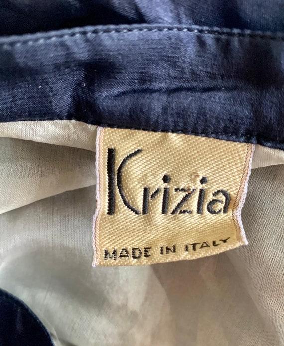 100% silk Krizia vintage bomber jacket - image 4