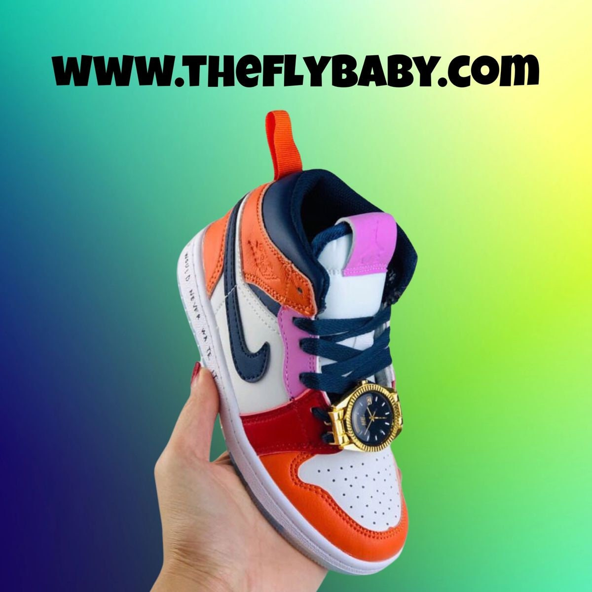Kids Air Jordan 1 Mid Fearless Melody Ehsani/ Custom Kids Size Sneakers/ Hypebeast Sneakerhead Kicks Shoes