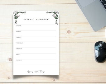 Calla Lily Weekly Planner - Digital Download Printable