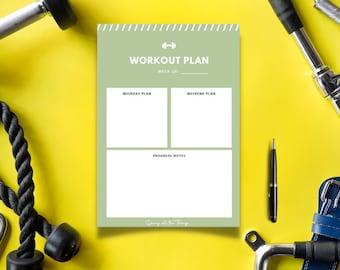 Sage Green Weekly Workout Planner - Digital Download Printable